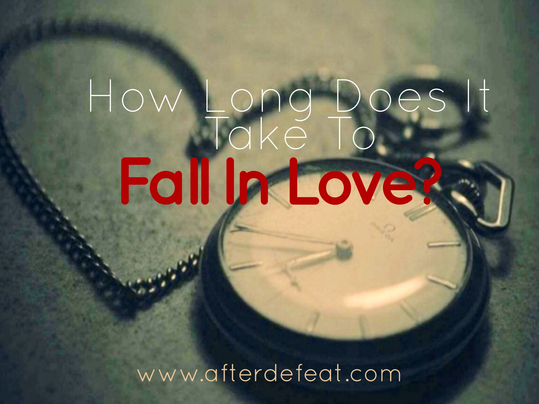 How long does falling in love take